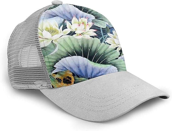 Ocean Fish World Adjustable Baseball Visor Cap,Mesh Hat,Men Women Athletic Hats