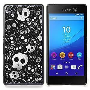 Queen Pattern - FOR Sony Xperia M5 - Skull Cute Cool Metal Design Death Punk - Cubierta del caso de impacto con el patr???¡¯???€????€?????n