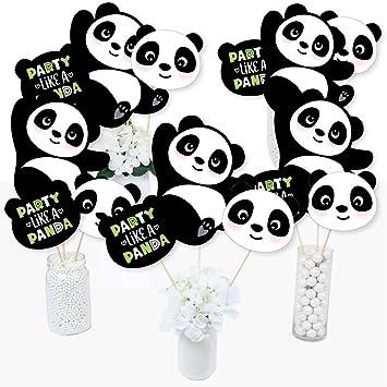 Party Like a Panda Bear – Palitos de centro de mesa para fiesta de cumpleaños o baby shower – Juego de 15: Amazon.es: Juguetes y juegos