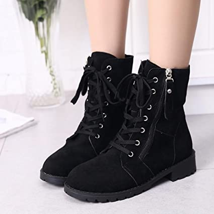 Beau Lace Up Boots Womens,Hemlock Teen Girls Winter Snow Boots Slip On Zipper  Boots Shoes