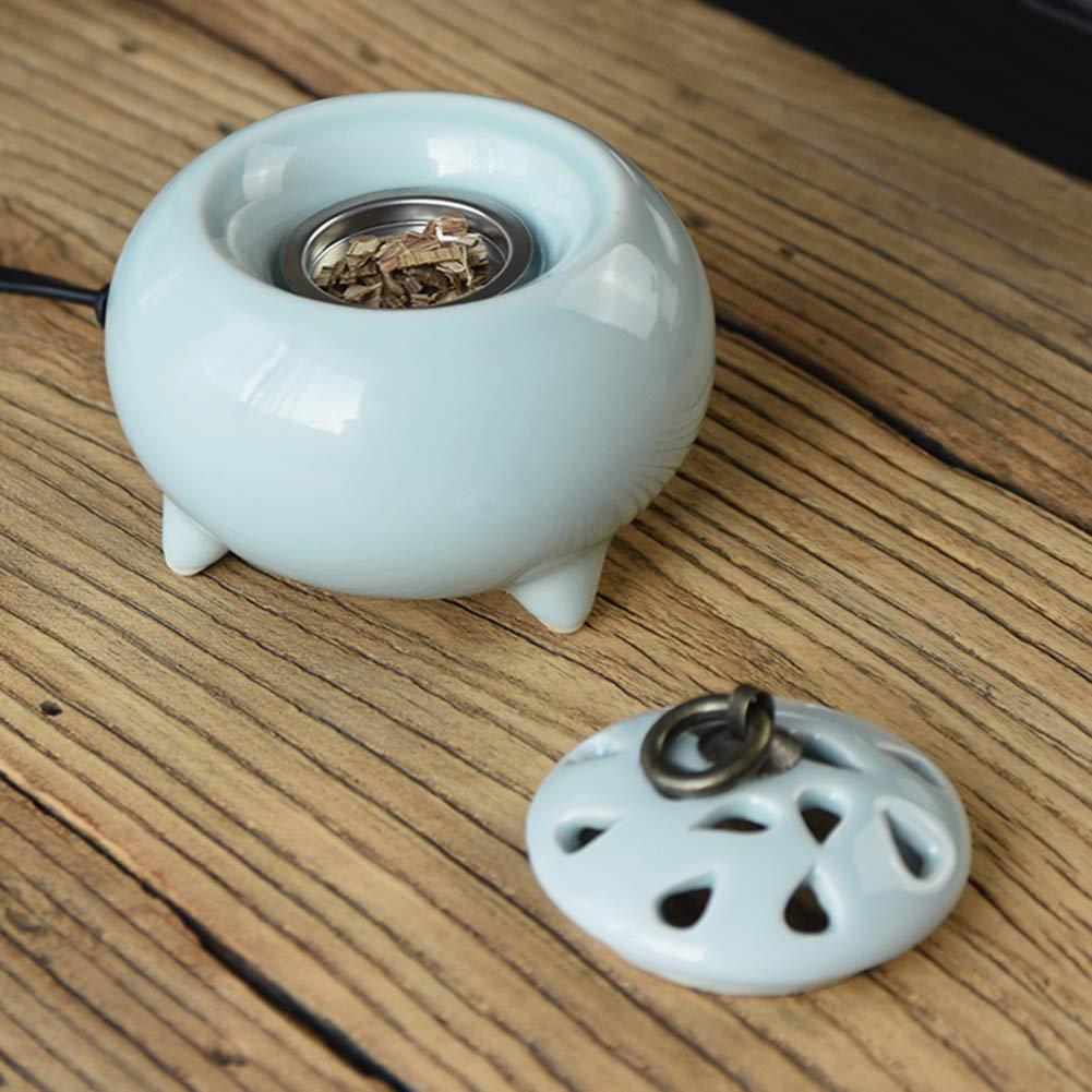 Weihrauch-Brenner - - - Timing Temperaturregelung elektronische Keramik Aromatherapie Ofen - Agarwood Ofen ätherisches Öl elektronische Aromatherapie Lampe 1ac426