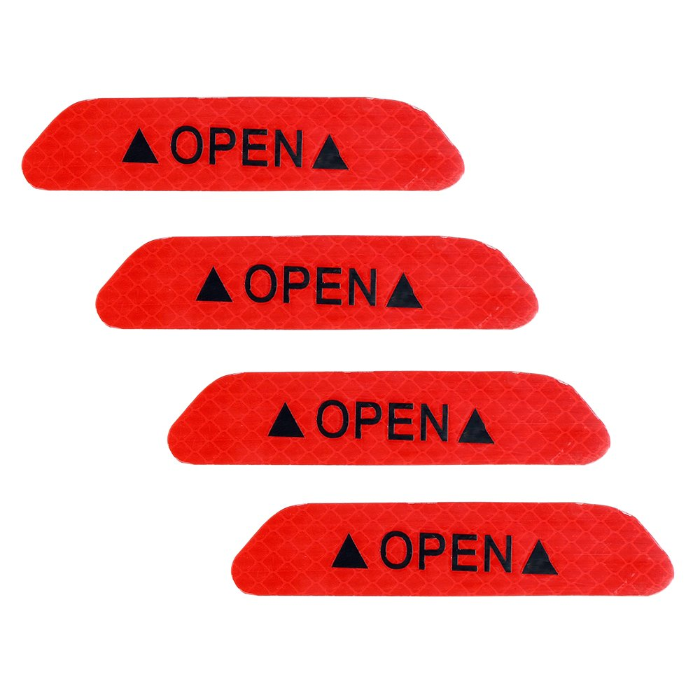 Color Rojo Pegatinas reflectantes para puerta de coche iTimo