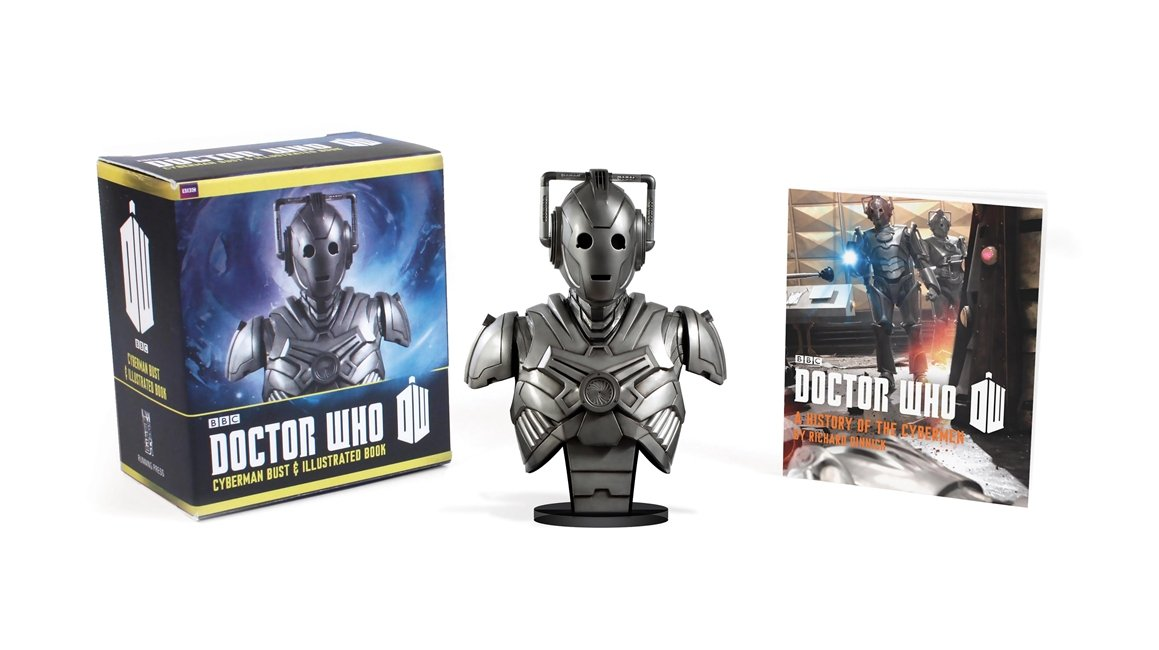 Doctor Who: Cyberman Bust and Illustrated Book (Miniature Editions)