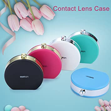 Caja de lente,Caja de lentes de contacto Caja de kit de viaje portátil mini estuche para lentes de contacto(05# azul): Amazon.es: Belleza