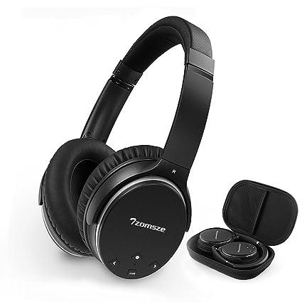 Auriculares Bluetooth activos con cancelación de ruido Tzomsze Auriculares estéreo inalámbricos con micrófono Hi-Fi
