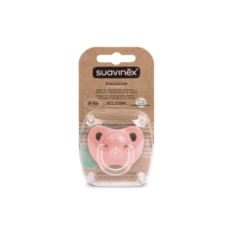 Suavinex Chupete PHYSIOLOGIQUE oso rosa 0/6 Meses: Amazon.es ...