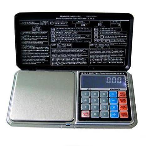 Generic 500 G: práctica pantalla LCD electrónico digital joyería báscula de bolsillo equilibrio calculadora función