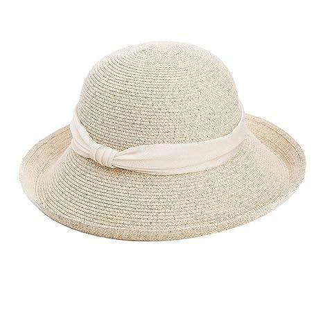 Jusheng Cappello Donna Estate Versione Coreana del Cappello da Sole  Protezione Solare Cappello Pieghevole da Spiaggia b667995ad1e8
