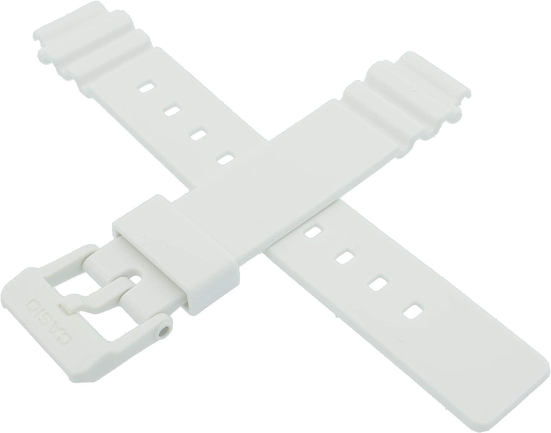 Correa de reloj Casio original para LRW-200H LRW 200H 200 blanco 10406536