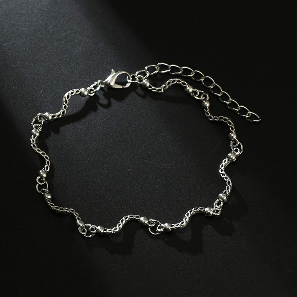 TENDYCOCO Bracciale alla Caviglia Bohemian Dolphin Tail Anklet Chain Bracelet Layered Anklets Pulseras for Women Girls