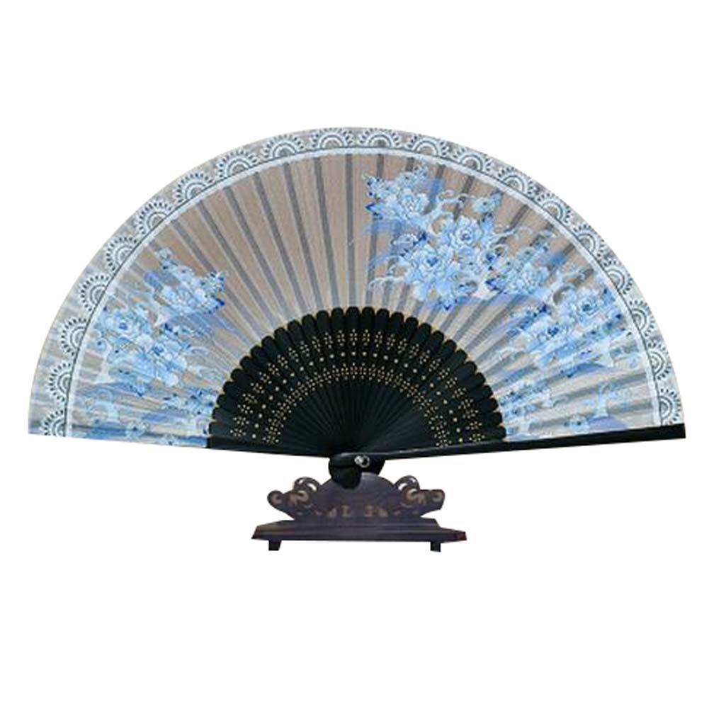 Panda Superstore Chinese Fan Beautiful Handheld Fan for Gifts for Women Folding Fan 8.27''(21cm)