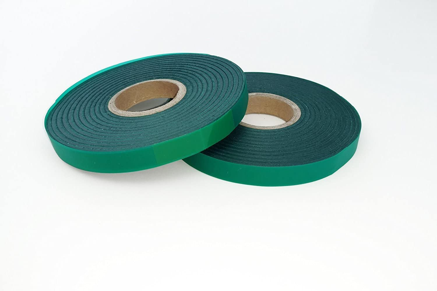"2 Rolls - 4mil Thick 300 FEET x 1/2"" Stretch Tie Tape Plant Ribbon Garden Green Vinyl Stake"