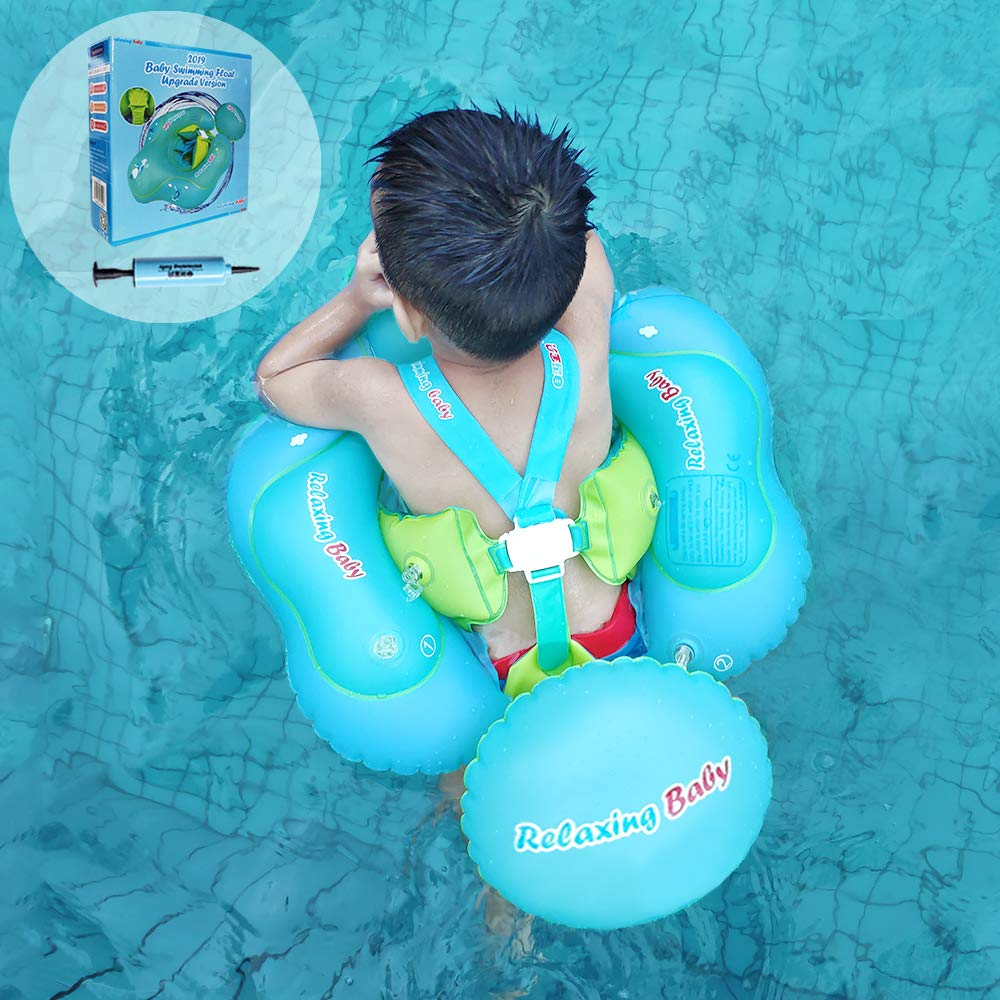 【 Professional Edition】 Anti-Flip and Slip Baby Swimming Float Ring for Pool, Toddler Floaties Inflatable Baby Tube for The Age of 3 Months- 6 Years.(XL) 61VO2BEEIejL