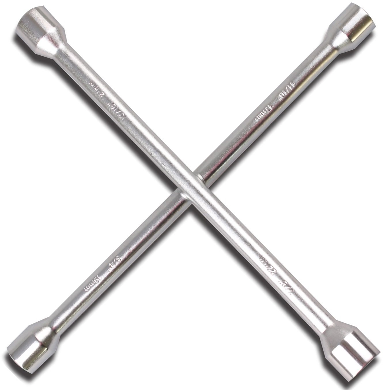 CARTMAN 14 Heavy Duty Universal Lug Wrench 4-Way Cross Wrench