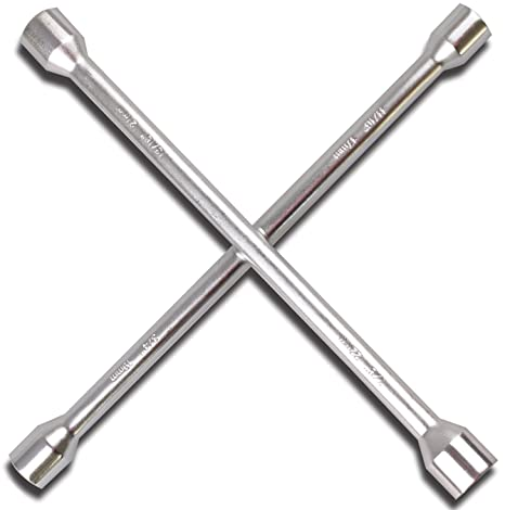 Automotive Hand Tools Universal Tire Lug Nut Wrench Four 4 Way Heavy Duty 17mm 19mm 21mm 22mm 14