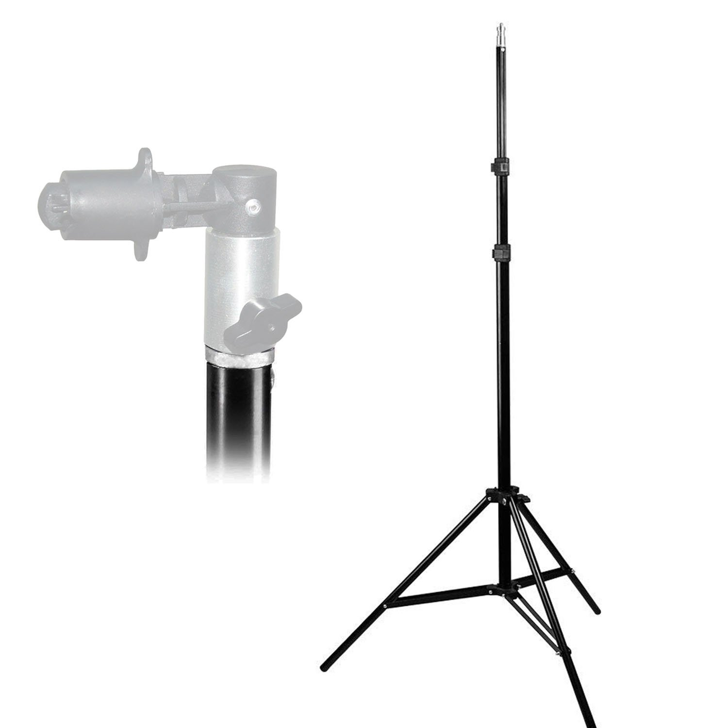 LimoStudio 86'' Photo Video Studio Aluminum Adjustable Light Stand Heavy Duty Tripod, AGG2344