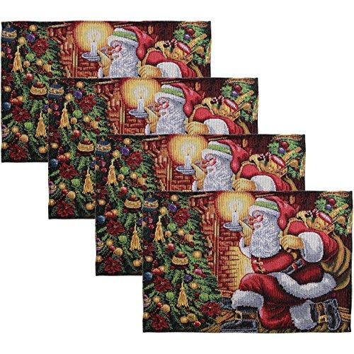 - HomeCrate Decorative Christmas Santa Claus Tapestry 13