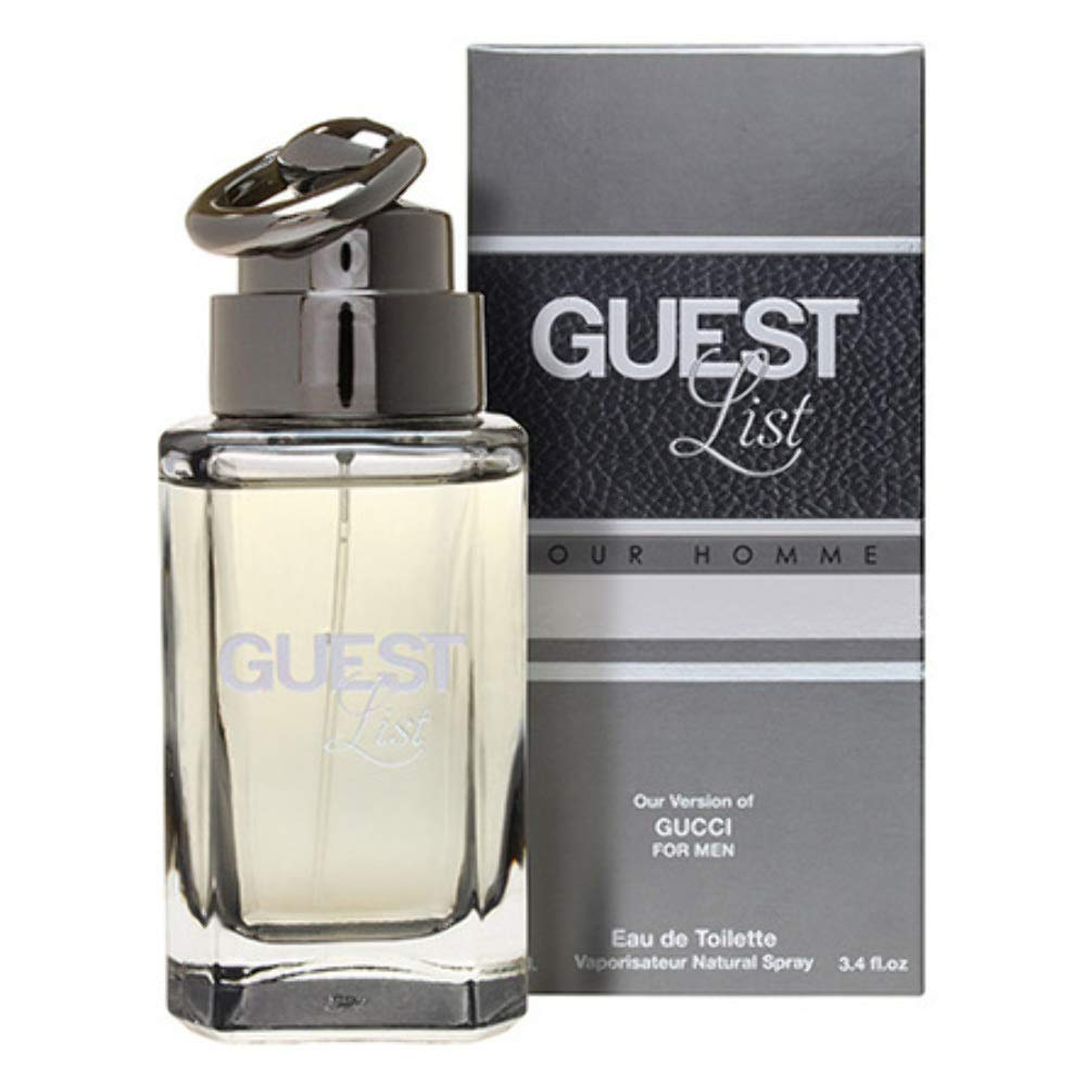91854aa1fa115 Amazon.com  GUEST LIST MEN 3.4oz EDT-SP (IMPRESSION PERFUME  Beauty