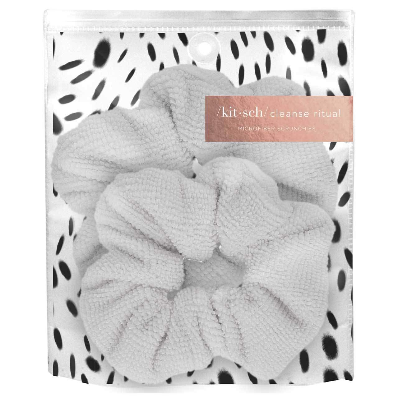 Kitsch Ultra Soft Microfiber Hair Drying Scrunchies for Frizz Free, Heatless Hair Drying, Towel Scrunchies, 2 Pack, White by Kitsch