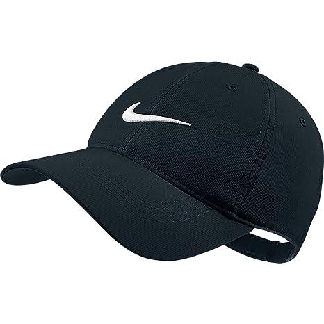 f578bbef Amazon.com: Nike Tech Swoosh Cap, Black/White, One Size: Clothing