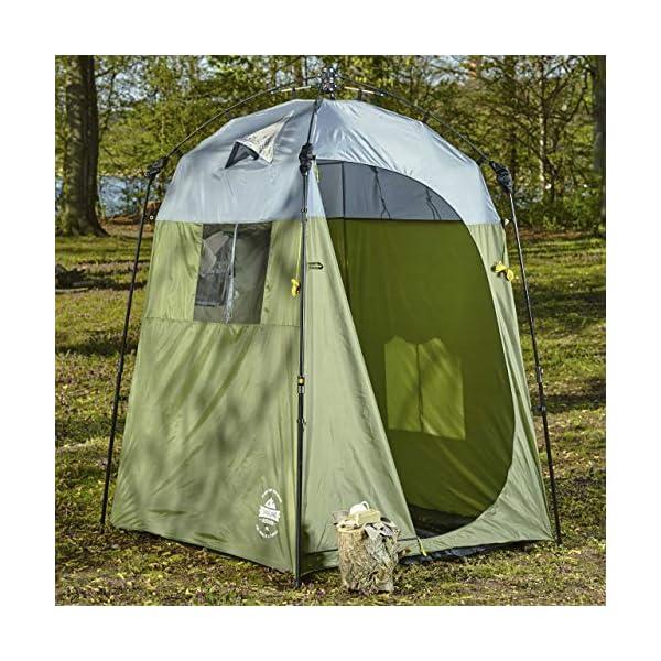 61VO eqoCdL Lumaland Outdoor Where Tomorrow Pop Up Duschzelt Umkleidezelt Toilettenzelt Stehzelt Camping 155x155x220 cm robust