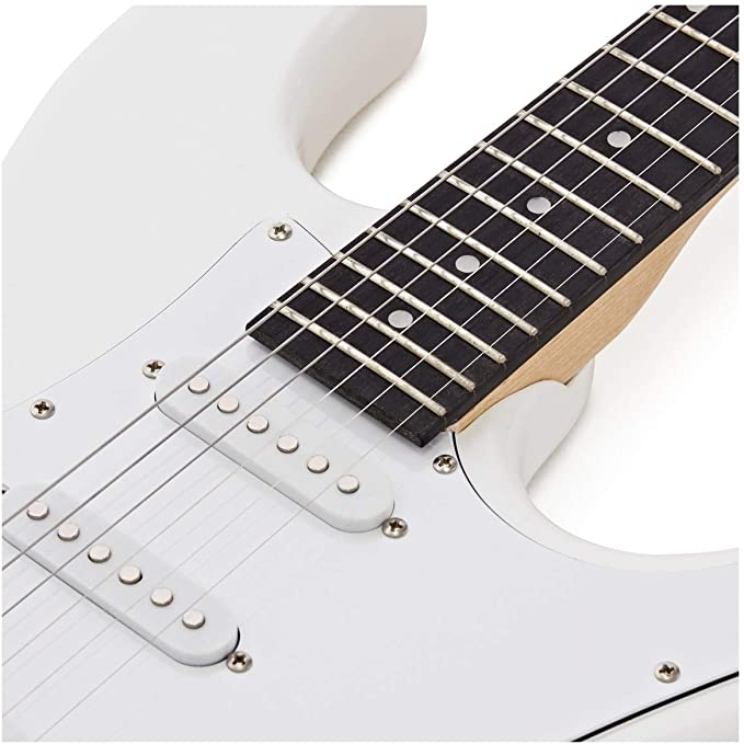Set Completo de Guitarra Electrica LA + Amplificador de 15 W White ...