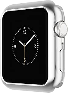 Ayigo Compatible with Apple Watch Case 40mm 44mm, Soft Slim TPU Protective Case Anti-Scratch Bumper Cover Compatible iWatch Series 4 (Silver, 44mm)