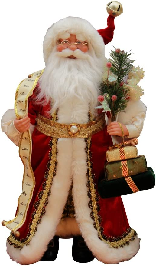 "Windy Hill Collection 16"" Inch Standing Naughty or Nice Name List Santa Claus Christmas Figurine Figure Decoration 41603"
