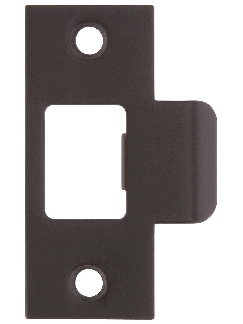 """2 3/4"""" x 1 1/'8"""" Stamped Brass T-Strike Plate in Oil-Rubbed Bronze. Strike Plates"""