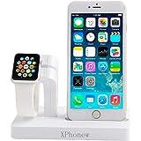 iPhone Ladegerät Dock, xphonew 2in 1Apple Armbanduhr Ständer iphone Ladestation Halterung Display Wiege für iWatch/iPhone 7/7Plus/6S/6S Plus 6/6Plus/5s/5/SE