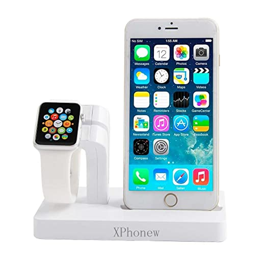 8 opinioni per iPhone Charger Dock, xphonew 2in 1Apple Watch Stand Display iPhone ricarica