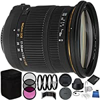 Sigma 17-50mm f/2.8 EX DC OS HSM Zoom Lens for Nikon DSLR Bundle with Manufacturer Accessories & Accessory Kit (23 Items)