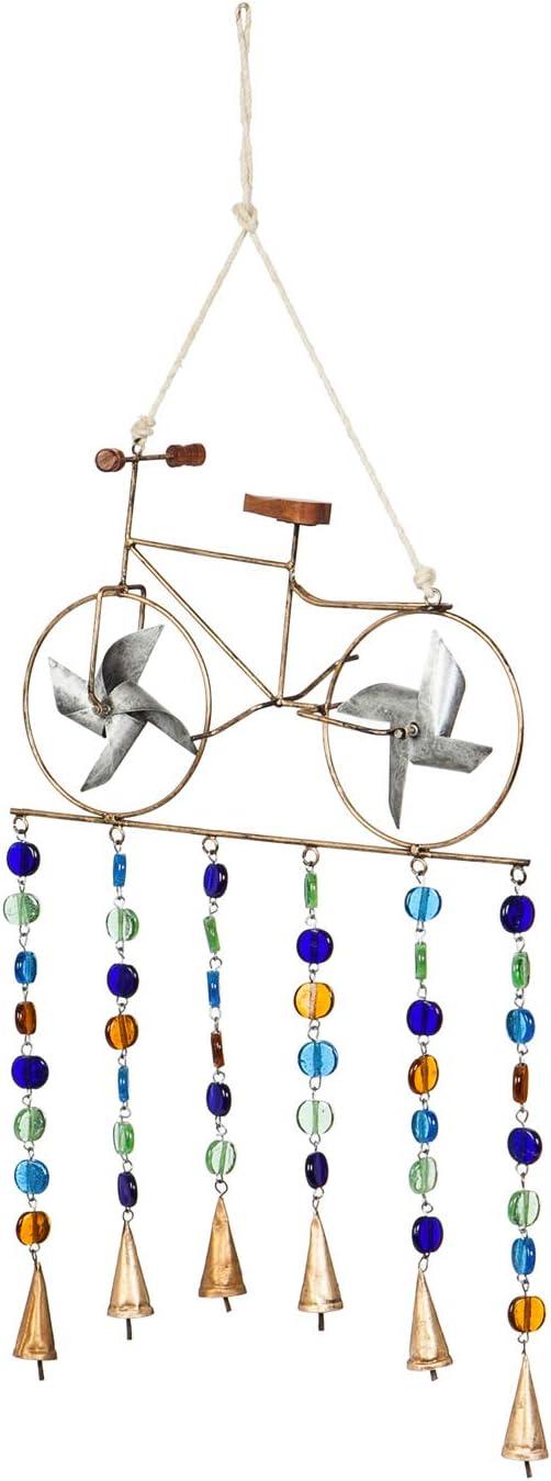 Cape Craftsmen Pinwheel Bicycle Garden Bells - 15 x 4 x 39 Inches