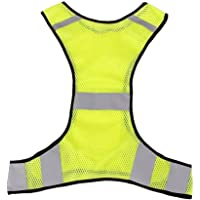 Rosenice High Visibility Safety Vest Reflective Jacket For Running Jogging Walking Bike