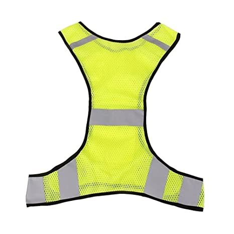 Reflective Bike Vest Lightweight Breathable Mesh High Visibility Safety Vest Gear For Running Walking Cycling Jogging High Quality Cycling Vest
