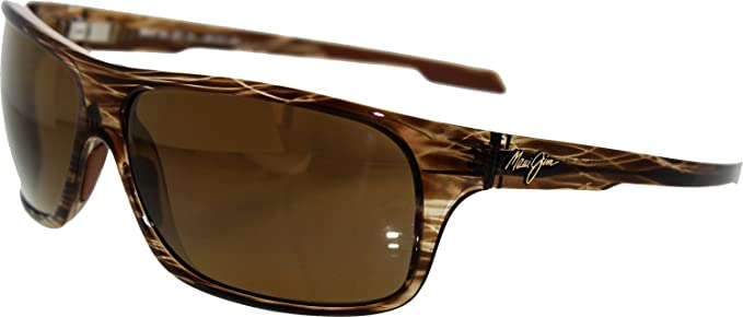 70eb0335bab Maui Jim Island Time Striped Rootbeer Frame / HCL Bronze Lenses - H237-15