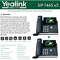 Yealink IPPhone SIP-T46S 2-Pack Optima HD USB Dongle PoE 16 VoIP accounts
