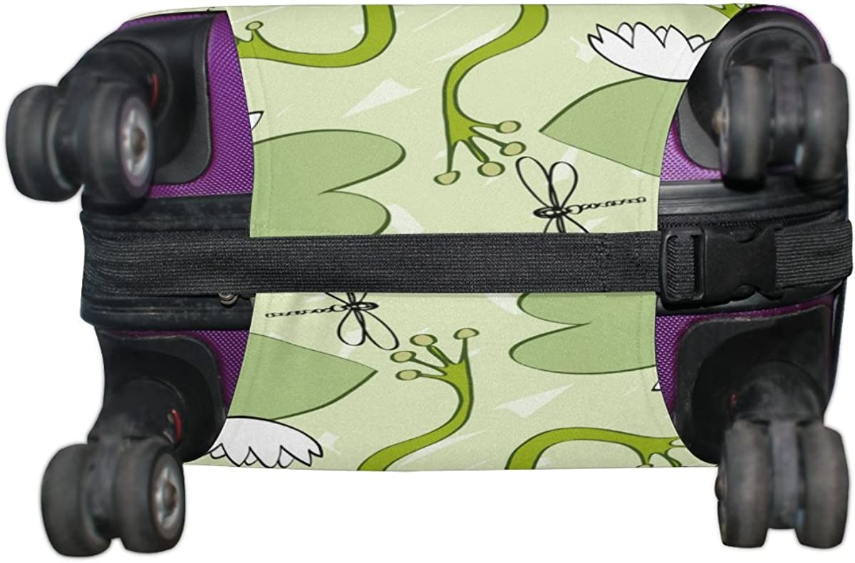 LAVOVO Frogs And Dragonflies Luggage Cover Suitcase Protector Carry On Covers