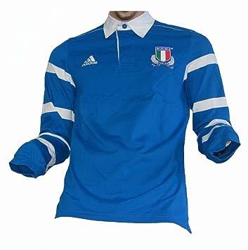 adidas Italia f.i.r. Rugby Camiseta, Azul, Small: Amazon.es: Deportes y aire libre