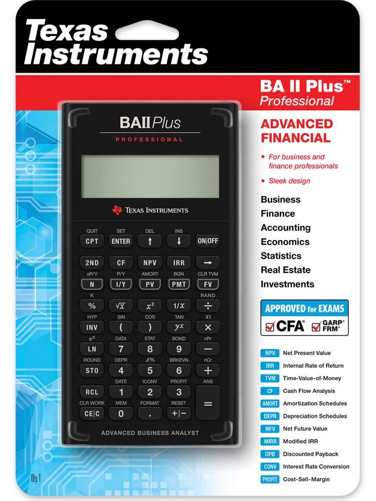 Texas Instruments IIBAPRO/TBL/1L1 BA II Plus Professional Financial Calculator by Texas Instruments
