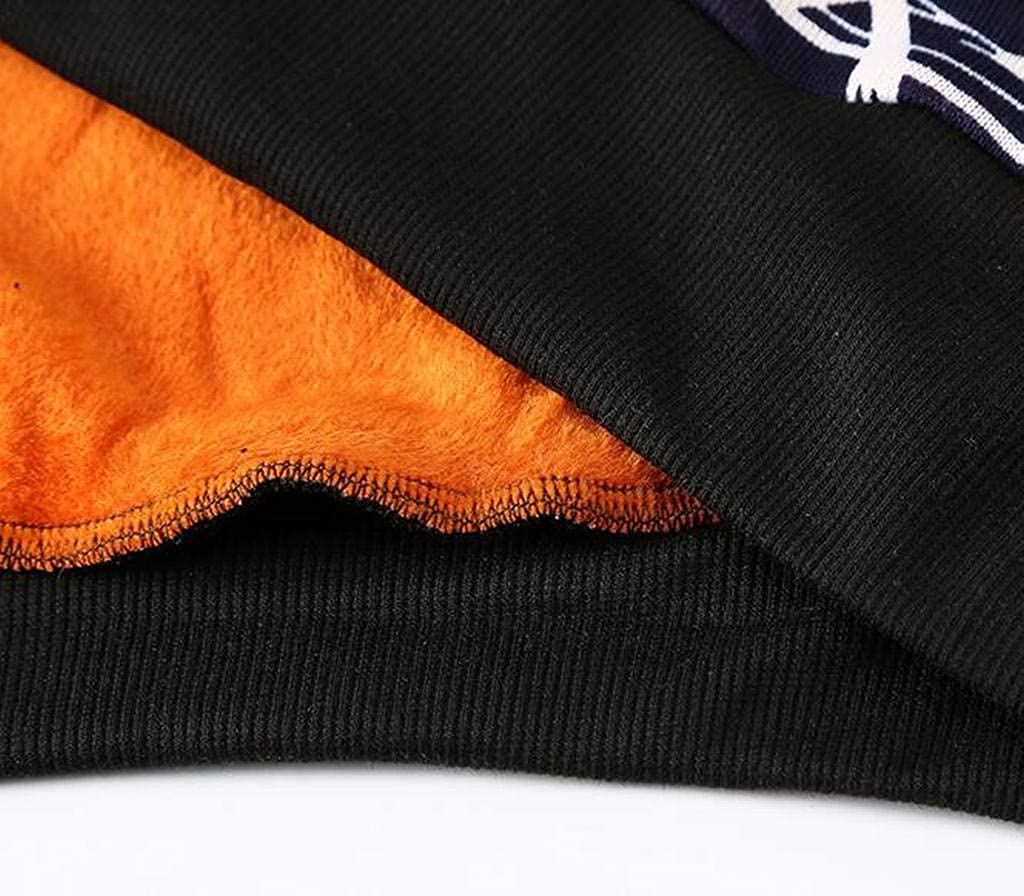 XiaoTianXinMen XTX Men Warm Printing Knit Winter Faux Fur Lined Pullover Sweater Jumper Top