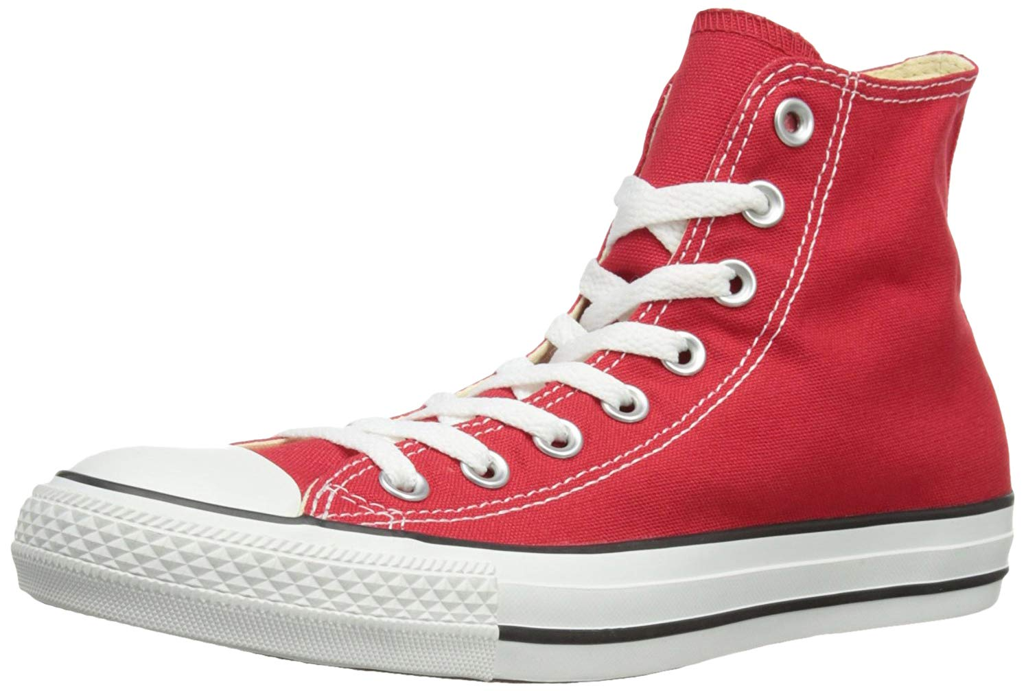 Converse Chuck Taylor All Star Canvas High Top Sneaker, red, 3.5 M US