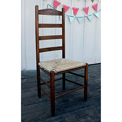 Amazon.com   Dixie Seating 42 In. Woven Seat Ladderback Chair, Medium Oak  143401 OG 47436 O 177636, Beige   Chairs