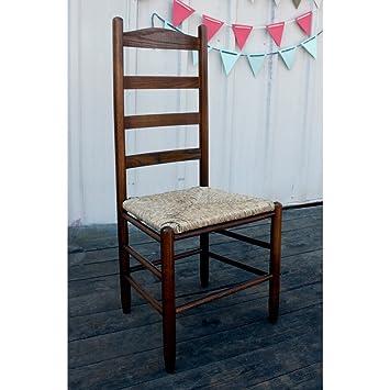Dixie Seating 42 In. Woven Seat Ladderback Chair Medium Oak 143401 OG 47436