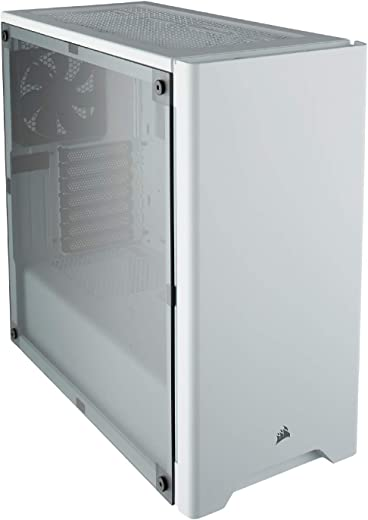 CORSAIR CARBIDE 275R Mid-Tower Gaming Case, Window Side Panel- White