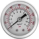0-160PSI 1/8NPT Dual Scale Pneumatic & Hydraulic All Purpose Pressure Gauge Manometer Water Oil Air Pressure Meter