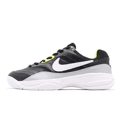 promo code 52f3e 44f5c Nike Men s Court Lite Tennis Shoe, Black White Wolf Grey Volt,