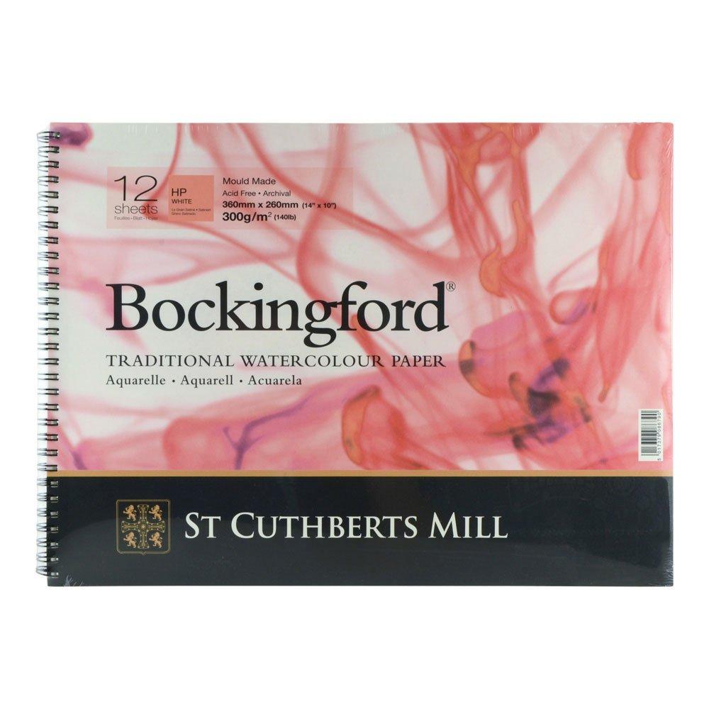 Bockingford 300gsm Spiral Pad 14' x 10' (360 x 260mm) Hot Pressed R K Burt & Co Ltd