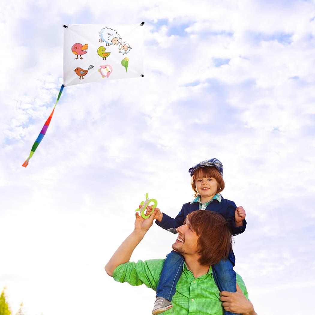Joyibay 10 Piezas Ni/ños Cometa De Juguete Cometa Voladora Cometa De Pintura En Blanco De Bricolaje con Giro Y L/ínea