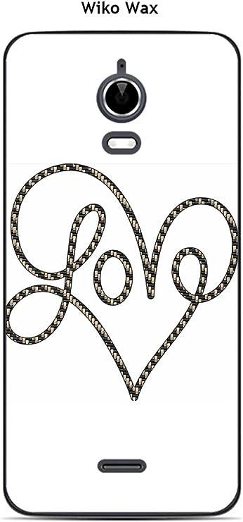 Coque Wiko Wax design Coeur Love: Amazon.fr: High-tech